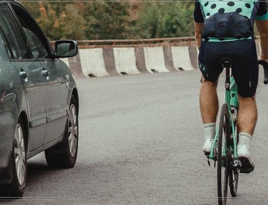 Como ultrapassar um ciclista